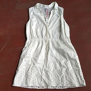 Nwt Elle cotton eyelet dress
